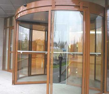 автоматические входные двери из алюминия и стекла