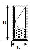 алюминиевые двери ags 50