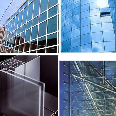 фасады из стекла и алюминия