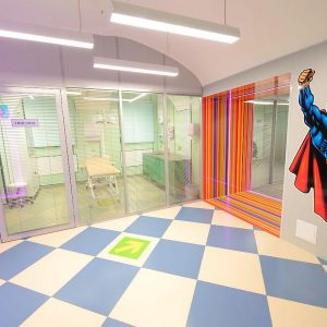 Стеклянные перегородки в детской больнице