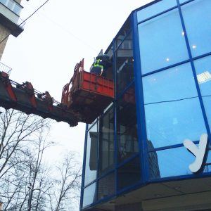 Замена витринных стеклопакетов